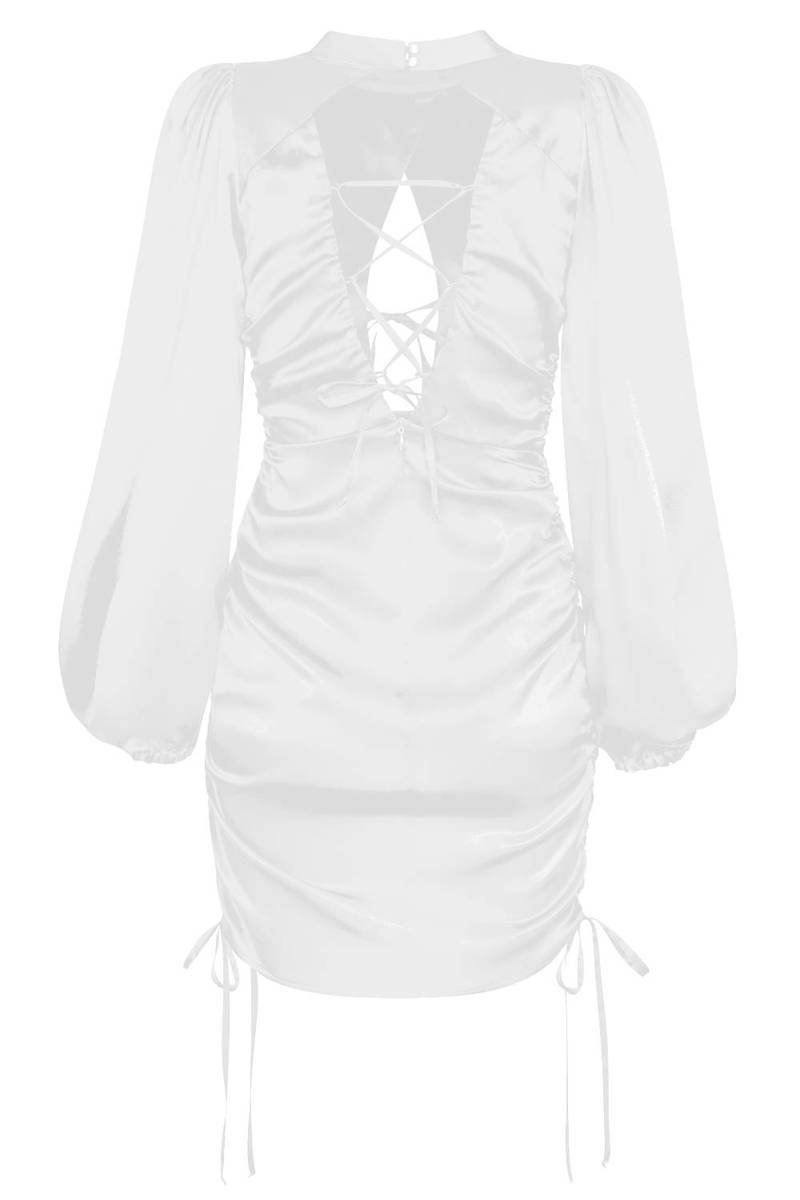 Sukienka Georgia Lace Up White